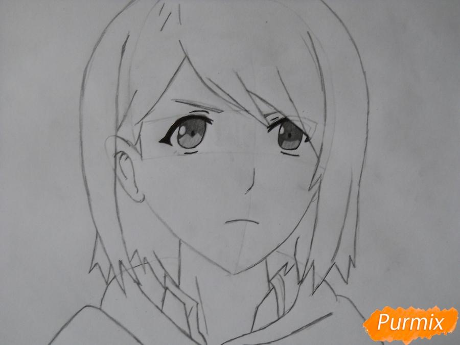 Рисуем портрет Петру из аниме Атака Титанов карандашами - шаг 5