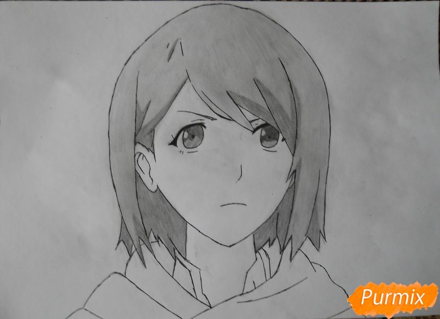 Рисуем портрет Петру из аниме Атака Титанов карандашами - шаг 7