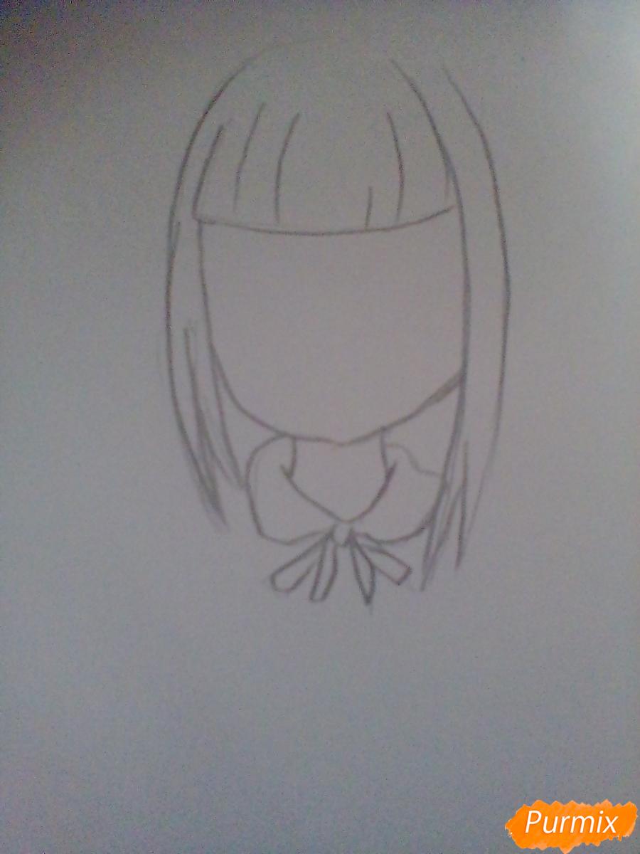 Рисуем певицу Melanie Martinez из клипа Cry Baby в аниме стиле - шаг 1