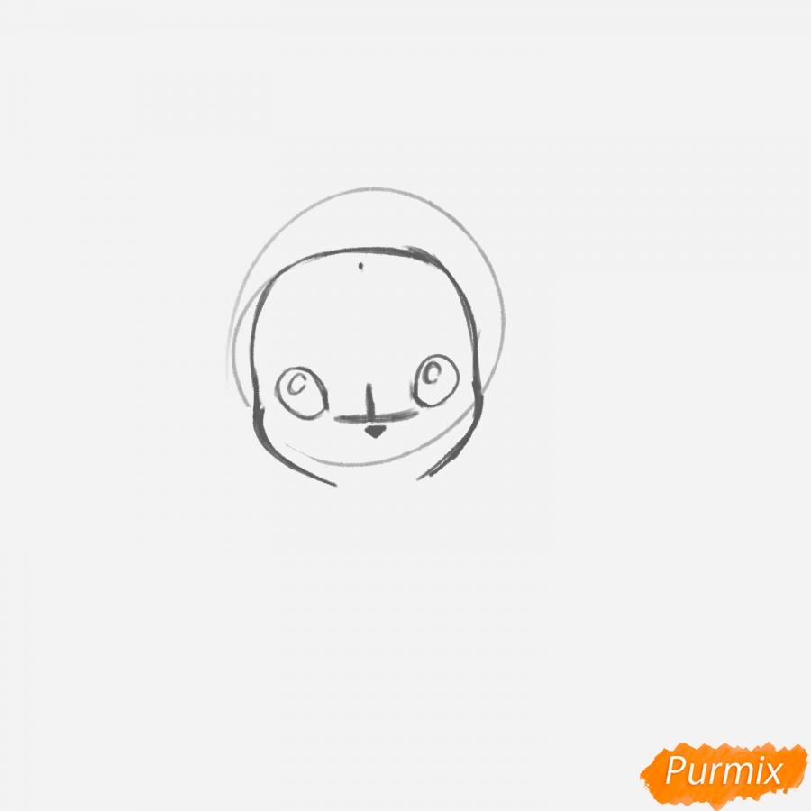 Рисуем Пикачу с шарфиком - шаг 3