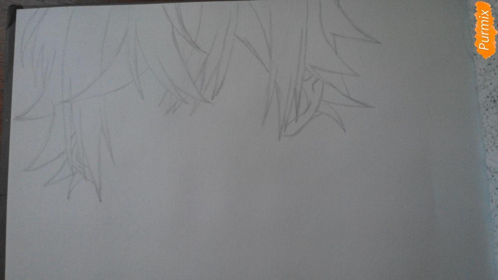 Рисуем портрет Аято Сакамаки - шаг 1