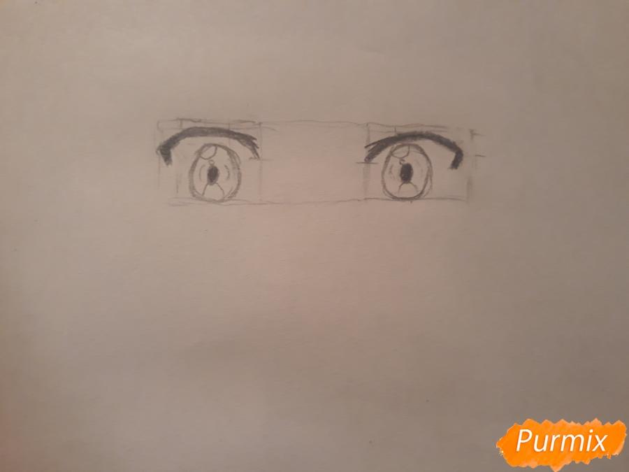 Рисуем портрет Курияму Мирай - шаг 1