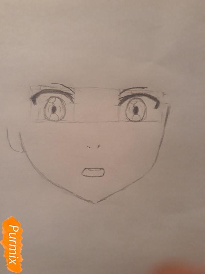 Рисуем портрет Курияму Мирай - шаг 2
