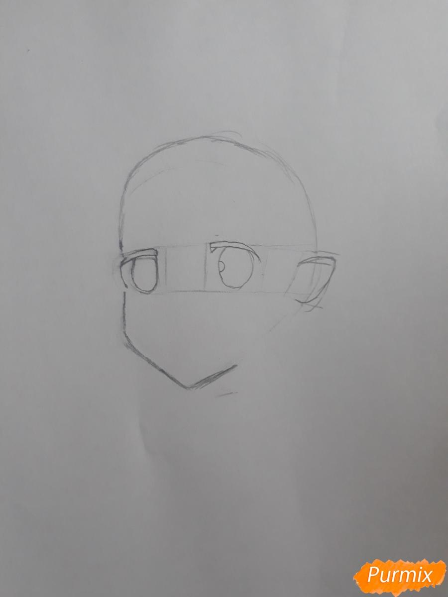 Рисуем портрет Рен - шаг 1