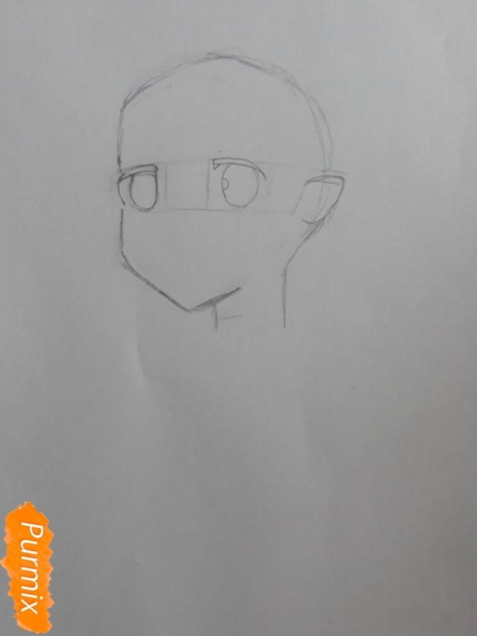 Рисуем портрет Рен - шаг 2
