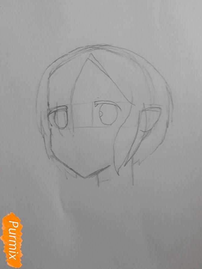 Рисуем портрет Рен - шаг 3