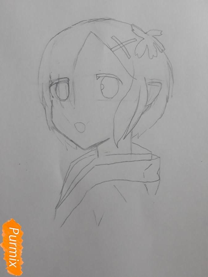 Рисуем портрет Рен - шаг 4