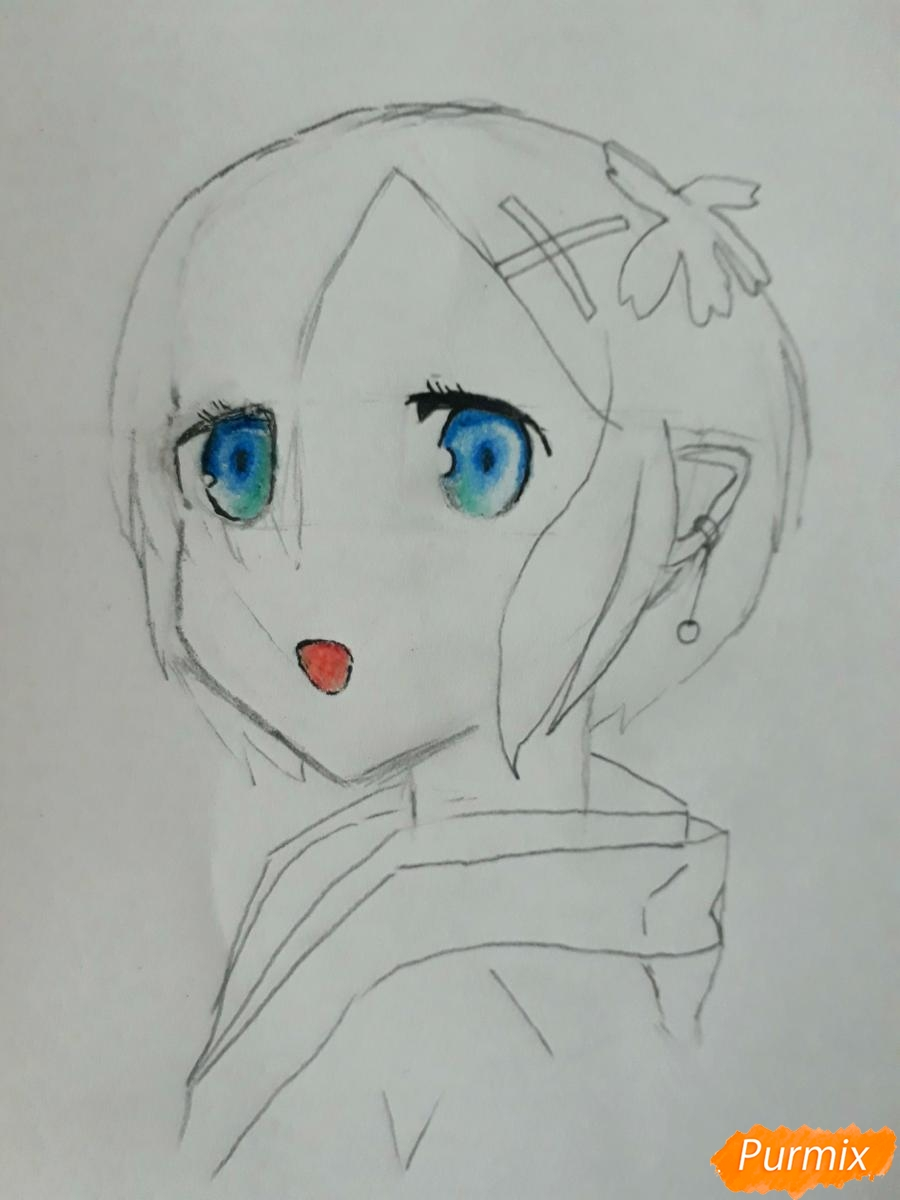 Рисуем портрет Рен - шаг 5