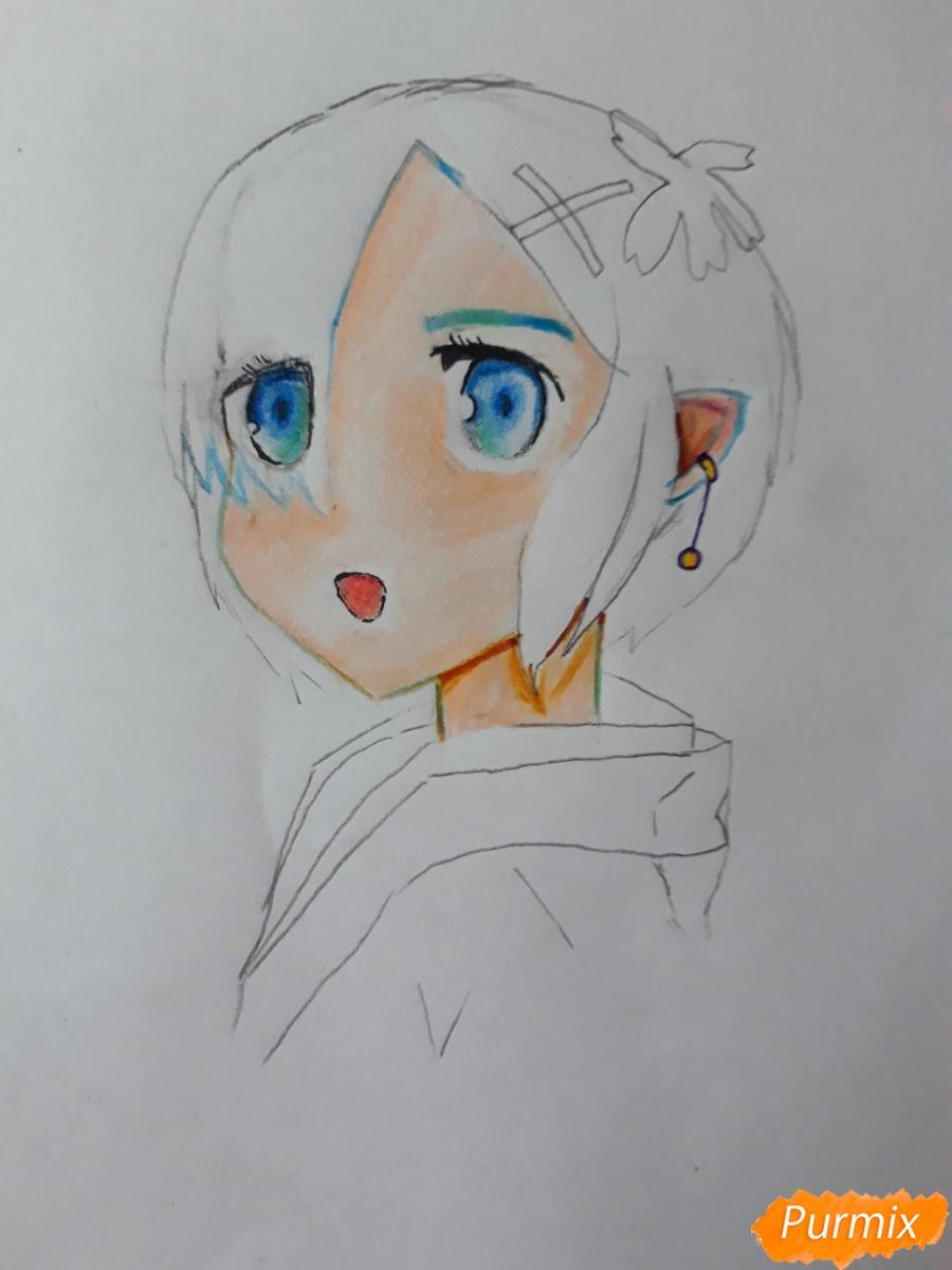 Рисуем портрет Рен - шаг 6