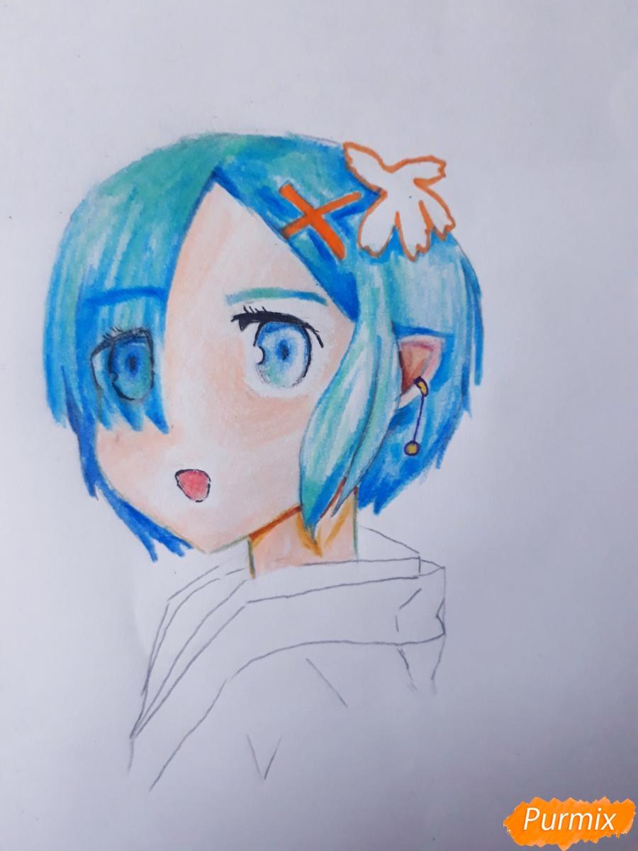 Рисуем портрет Рен - шаг 7