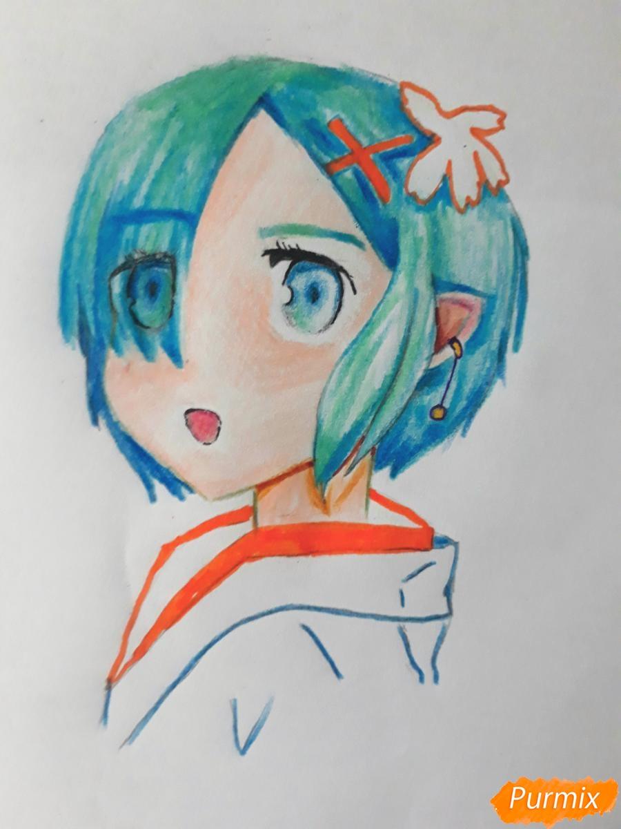 Рисуем портрет Рен - шаг 8