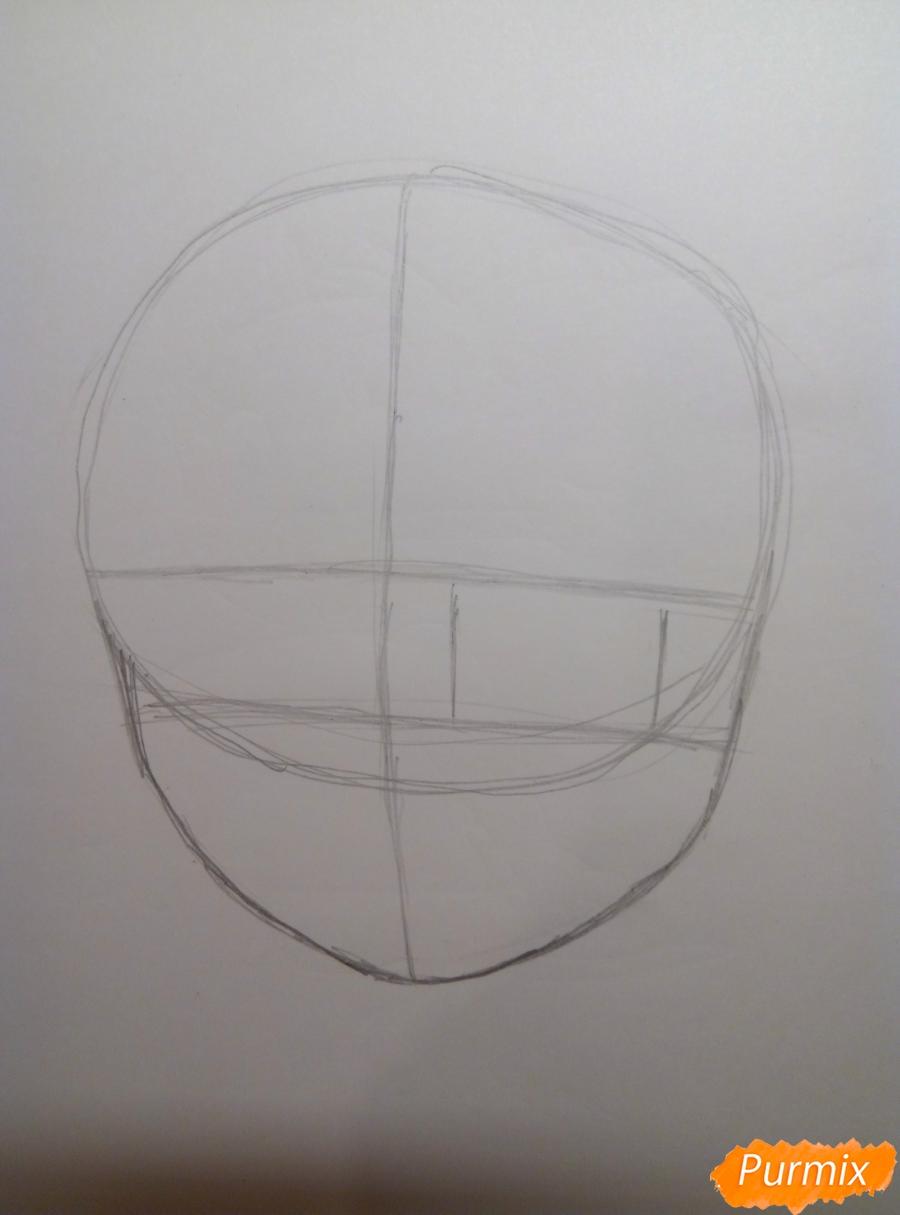 Рисуем Рем из аниме Re Zero карандашами - шаг 2