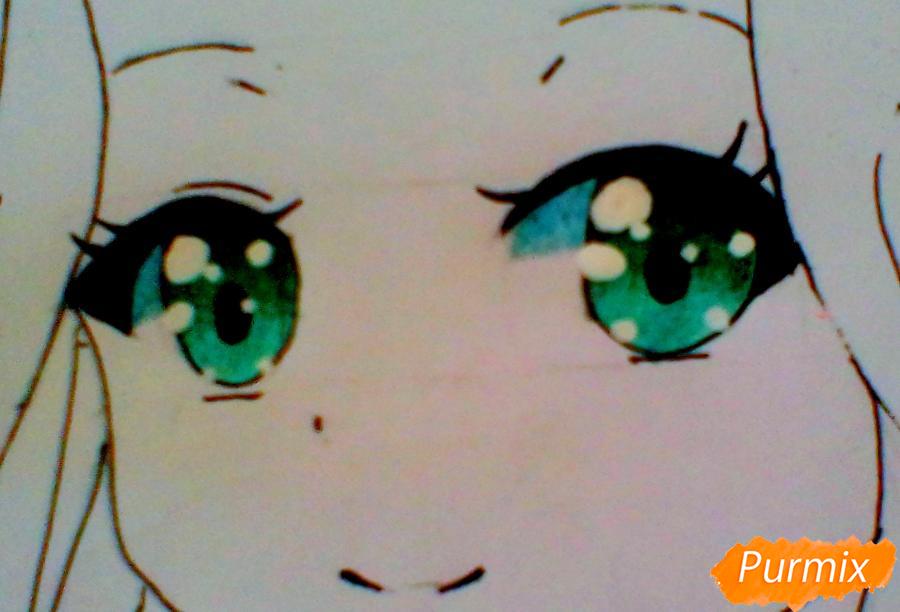 Рисуем Рэн из аниме Загадочная история Коноханы - шаг 6