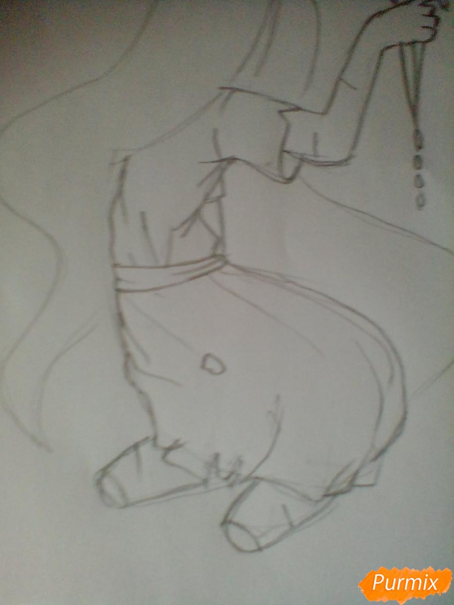 Рисуем Сачико Шинозаки из аниме Вечеринка Мёртвых - шаг 3