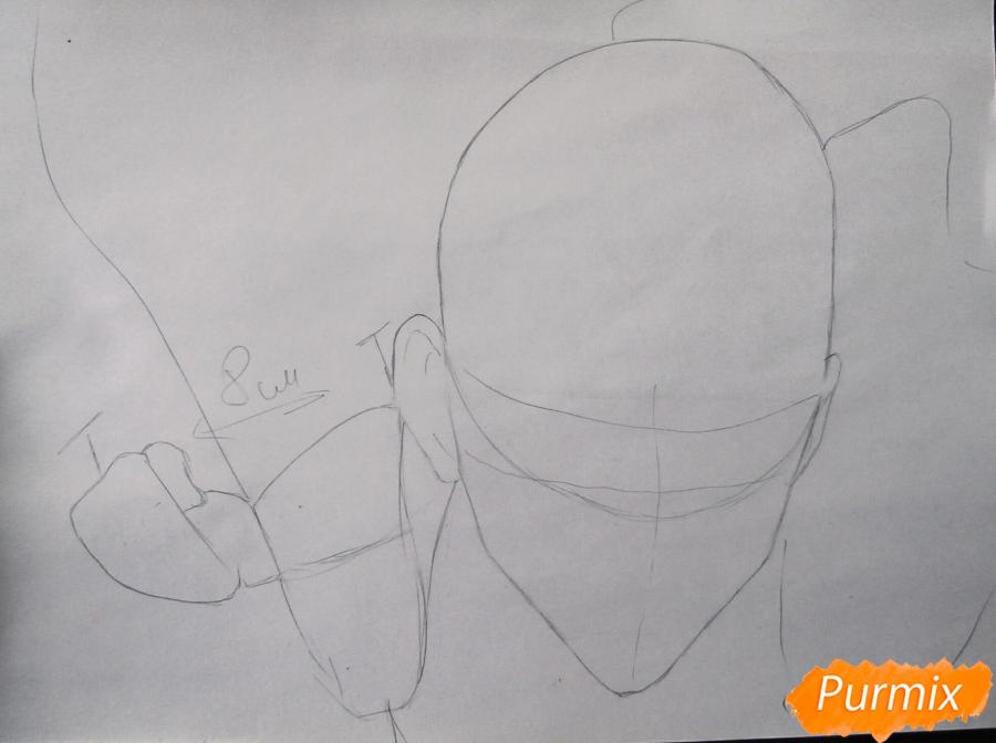 Рисуем Сайтаму главного героя манги/аниме Ванпачмен - шаг 1