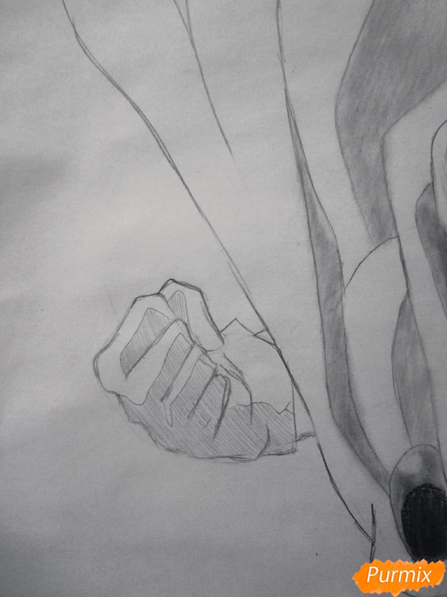 Рисуем Сайтаму главного героя манги/аниме Ванпачмен - шаг 8