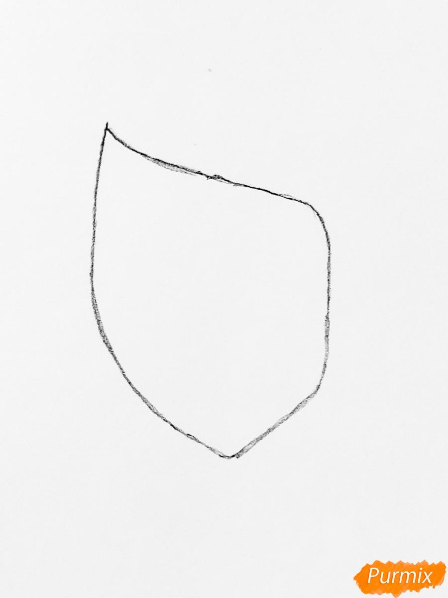 Рисуем Сакуру из Наруто цветными карандашами - шаг 1