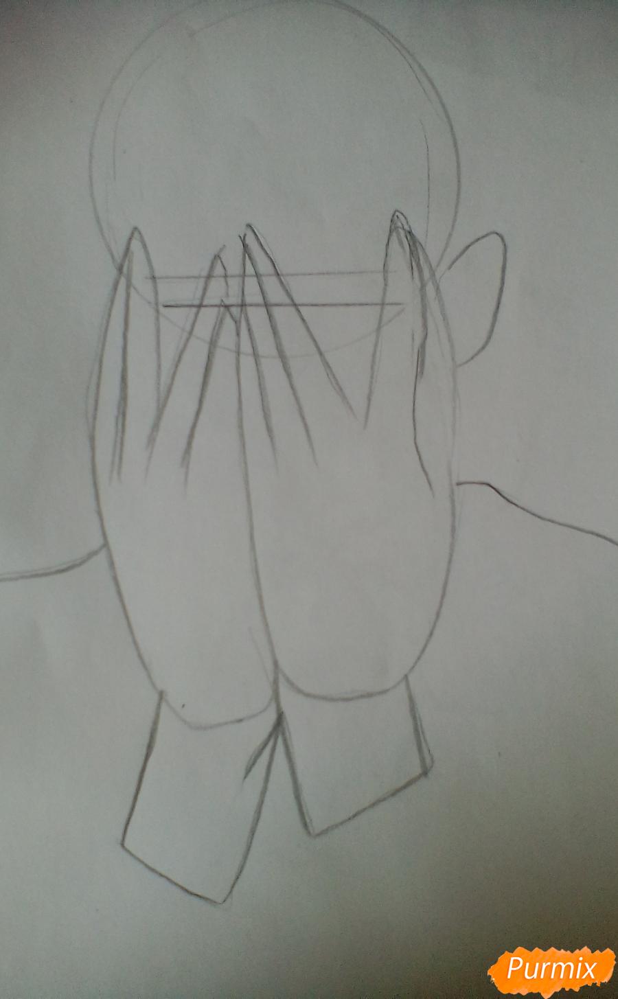 Рисуем Сану из манги Убить Сталкера - шаг 1