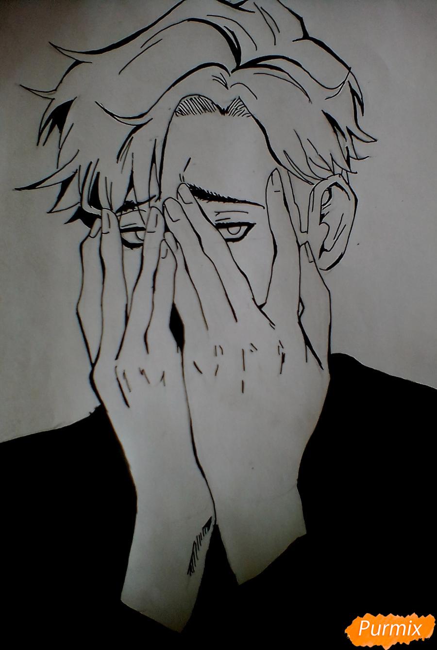 Рисуем Сану из манги Убить Сталкера - шаг 4