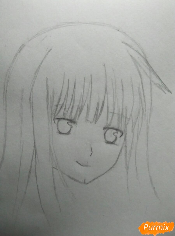 Рисуем Савако Куронума из аниме Дотянутья до тебя - шаг 3