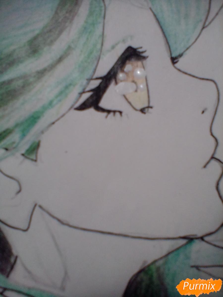 Рисуем Сейлор Плутон (Сэцуна Мэйо) из аниме Сейлор Мун - шаг 10