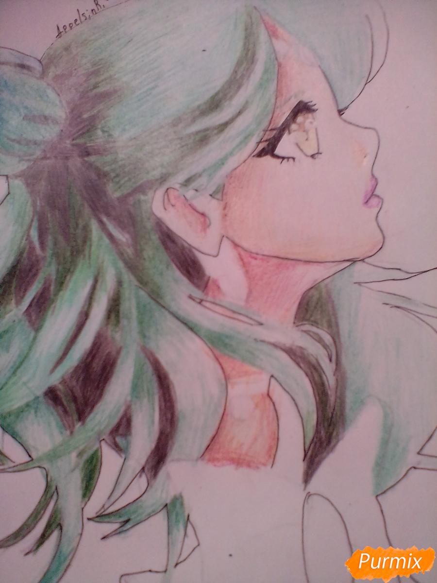 Рисуем Сейлор Плутон (Сэцуна Мэйо) из аниме Сейлор Мун - шаг 11