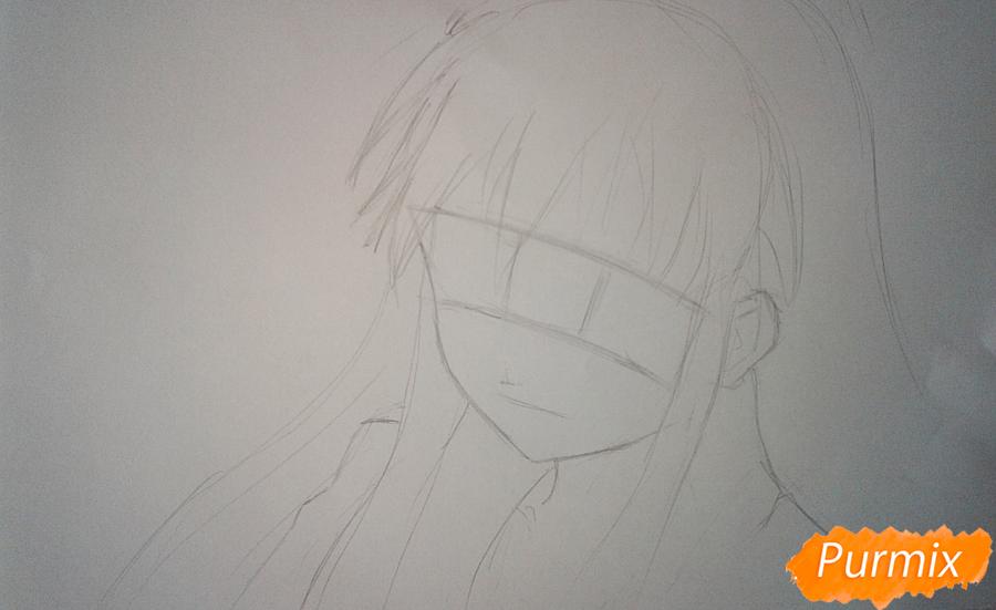 Рисуем Шану из аниме Жгучий взор Шаны - шаг 1