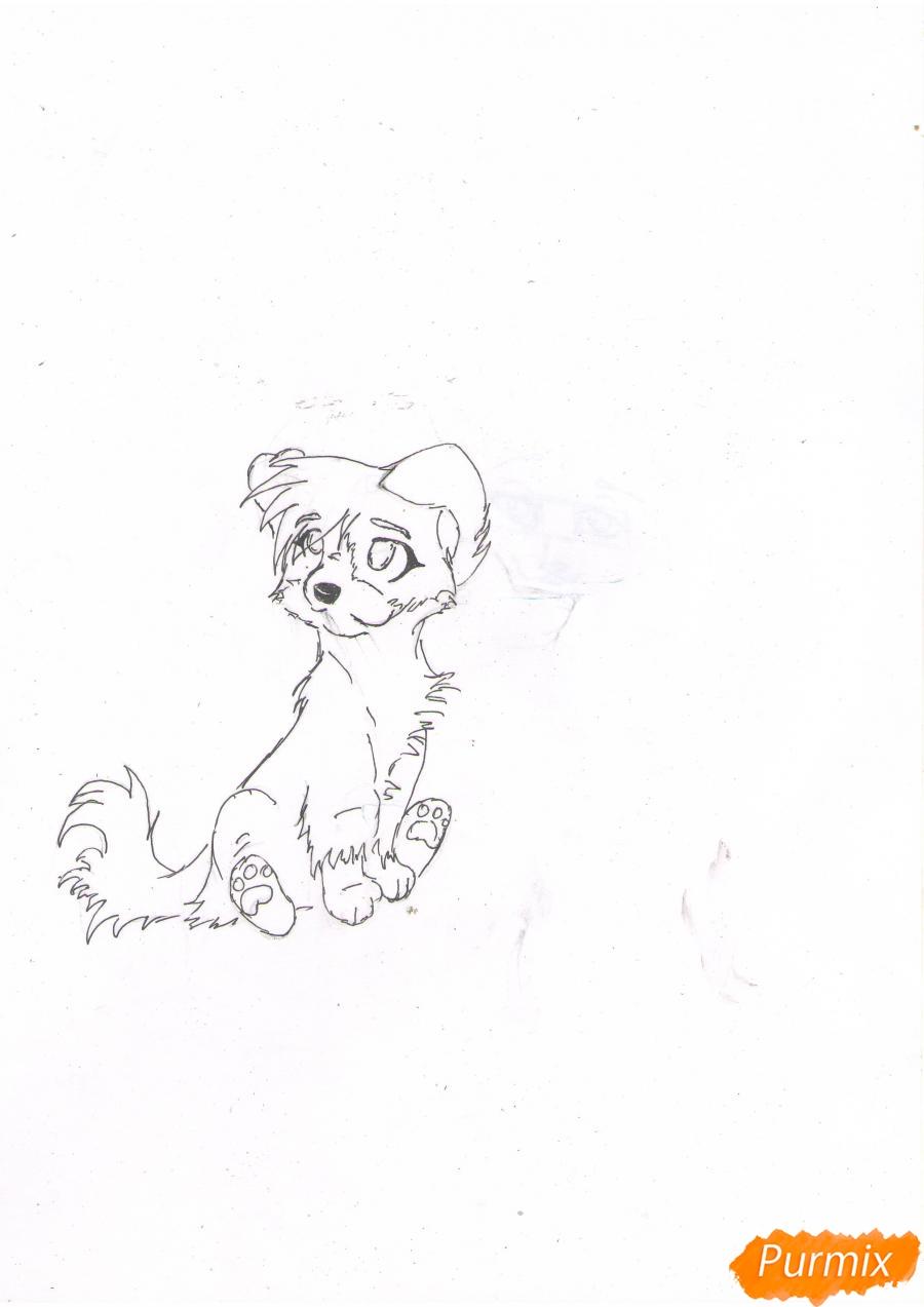 Рисуем щенка в стиле аниме  для начинающих - шаг 5