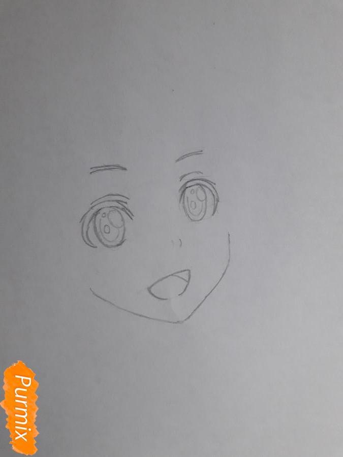 Рисуем Шинозаки Рику(Лизбет) из аниме Мастера меча онлайн карандашами - шаг 2