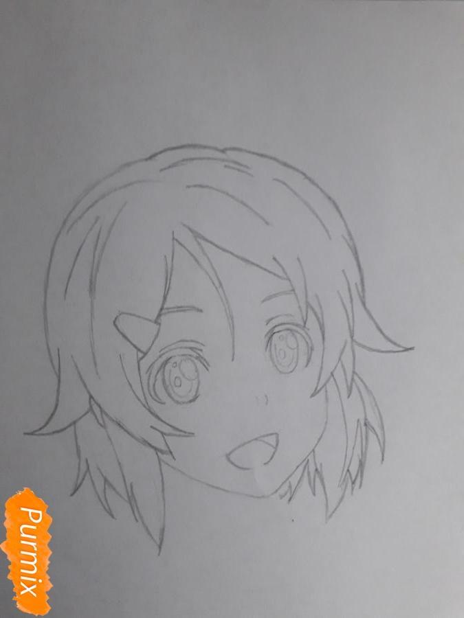 Рисуем Шинозаки Рику(Лизбет) из аниме Мастера меча онлайн карандашами - шаг 3