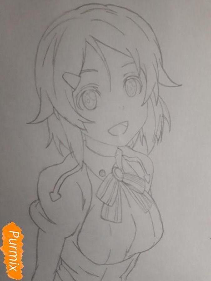 Рисуем Шинозаки Рику(Лизбет) из аниме Мастера меча онлайн карандашами - шаг 5