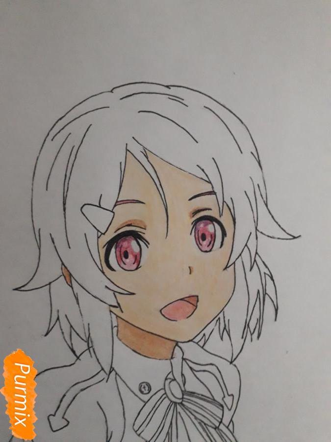 Рисуем Шинозаки Рику(Лизбет) из аниме Мастера меча онлайн карандашами - шаг 8