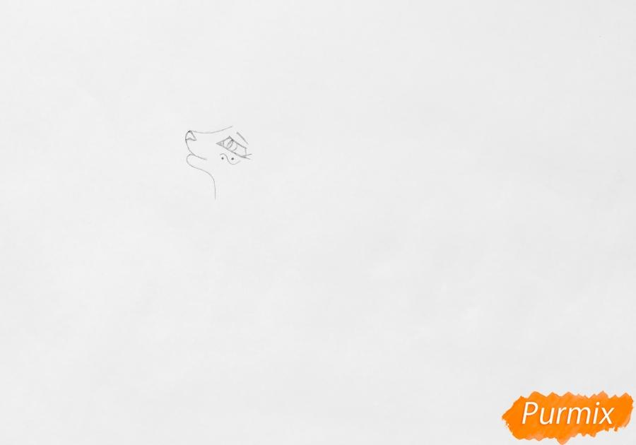 Рисуем синюю аниме кошку - шаг 1