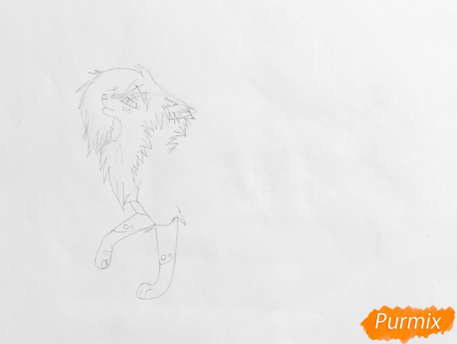 Рисуем синюю аниме кошку - шаг 3