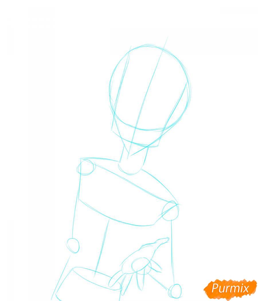 Рисуем собственного аниме парня  для начинающих - шаг 1