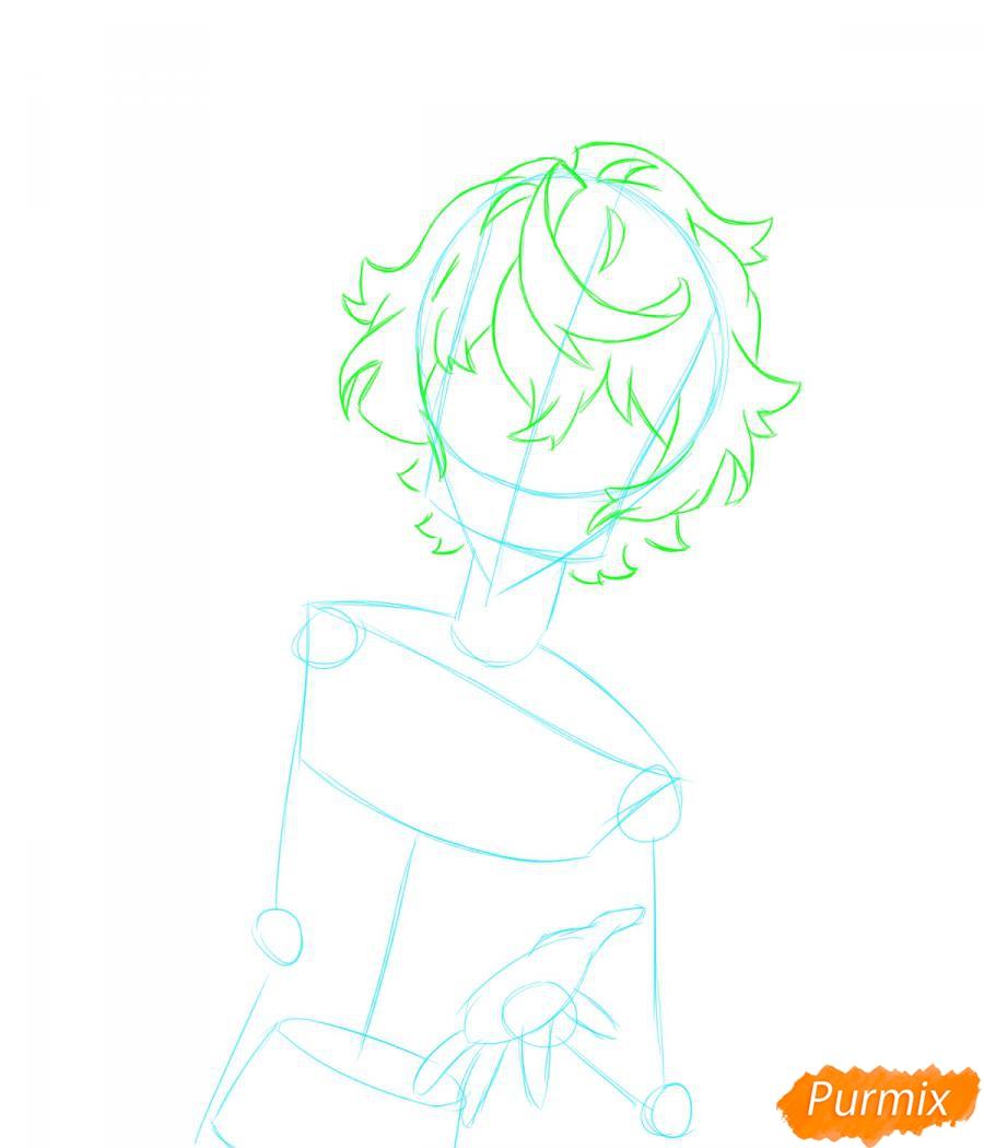 Рисуем собственного аниме парня  для начинающих - шаг 2