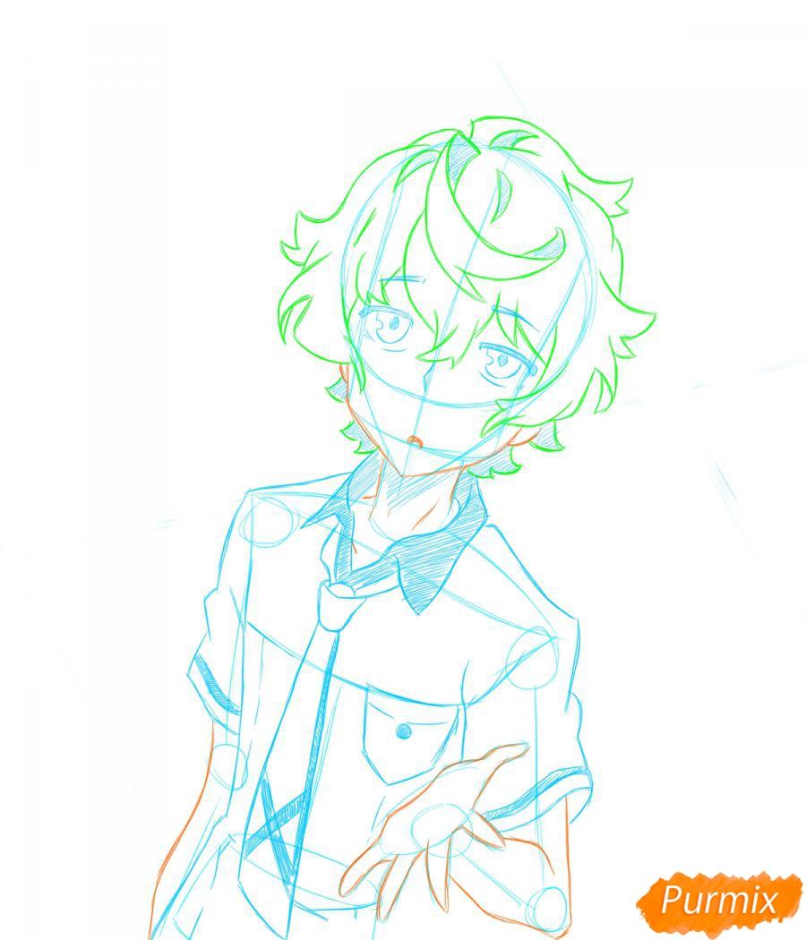 Рисуем собственного аниме парня  для начинающих - шаг 4