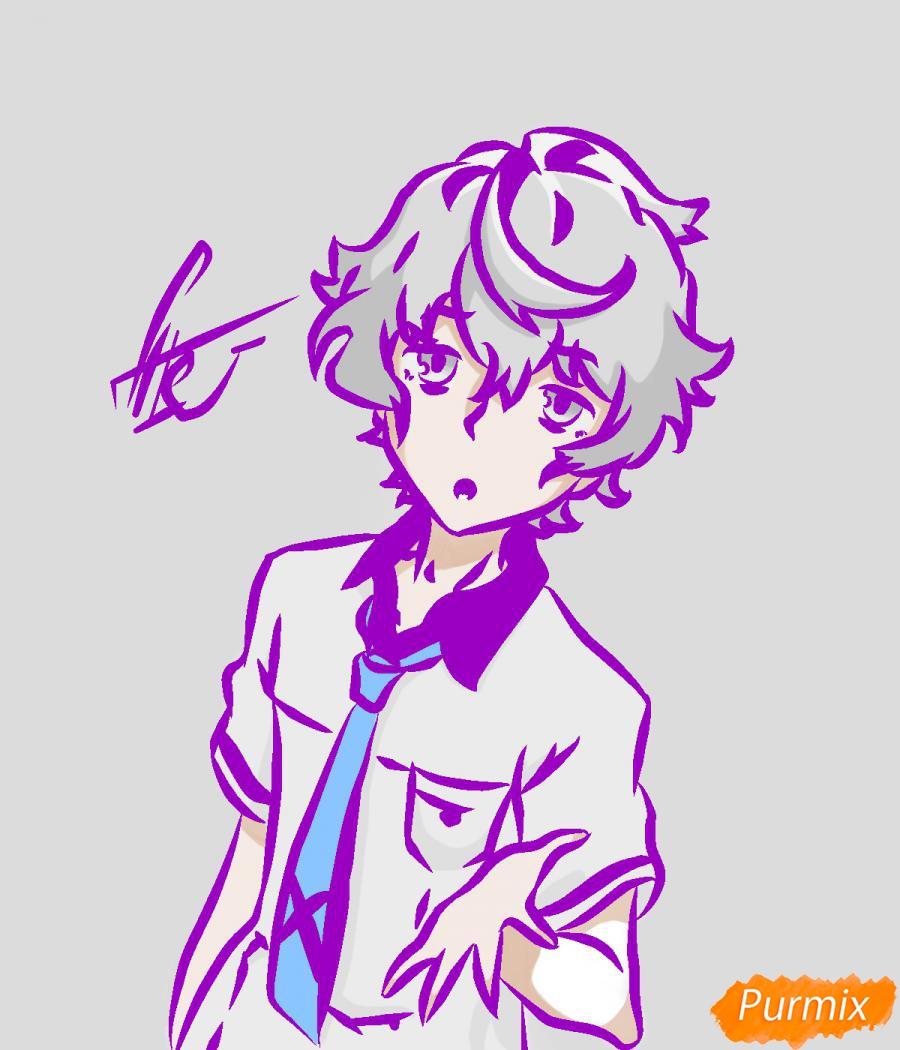 Рисуем собственного аниме парня  для начинающих - шаг 6