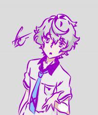 собственного аниме парня карандашами