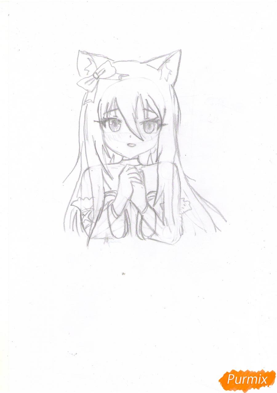 Рисуем собственную аниме девушку Эми карандашами - шаг 5
