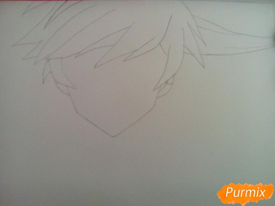 Рисуем Сорея из аниме Сказания Зестирии цветными карандашами - шаг 2
