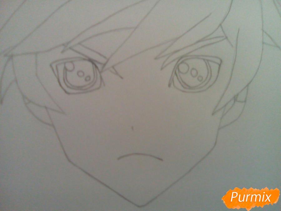 Рисуем Сорея из аниме Сказания Зестирии цветными карандашами - шаг 3