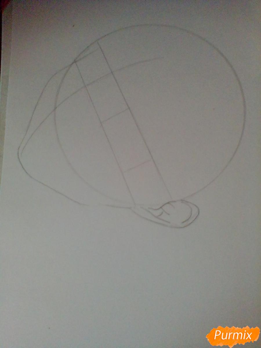 Рисуем Сугавару Коши из аниме Волейбол карандашами - шаг 1