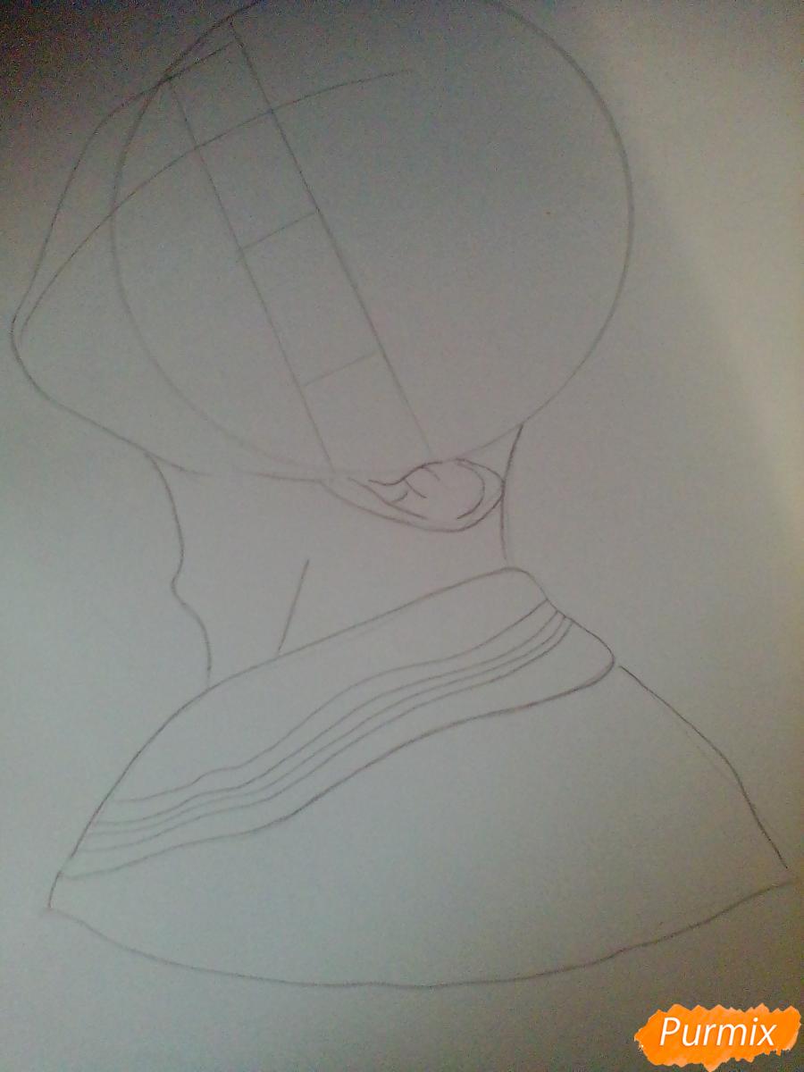 Рисуем Сугавару Коши из аниме Волейбол карандашами - шаг 2