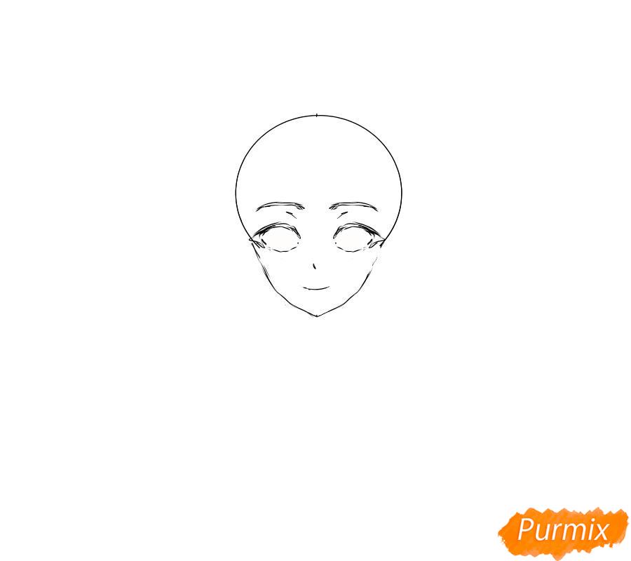 Рисуем Суу из аниме Повседневная жизнь с девушкой-монстром - шаг 3