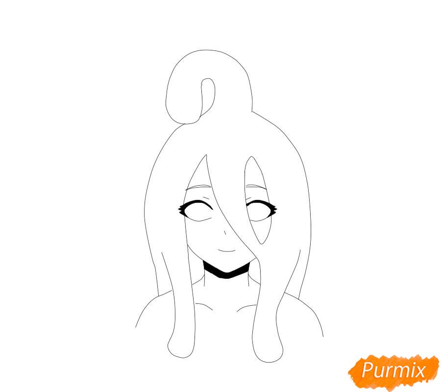 Рисуем Суу из аниме Повседневная жизнь с девушкой-монстром - шаг 5