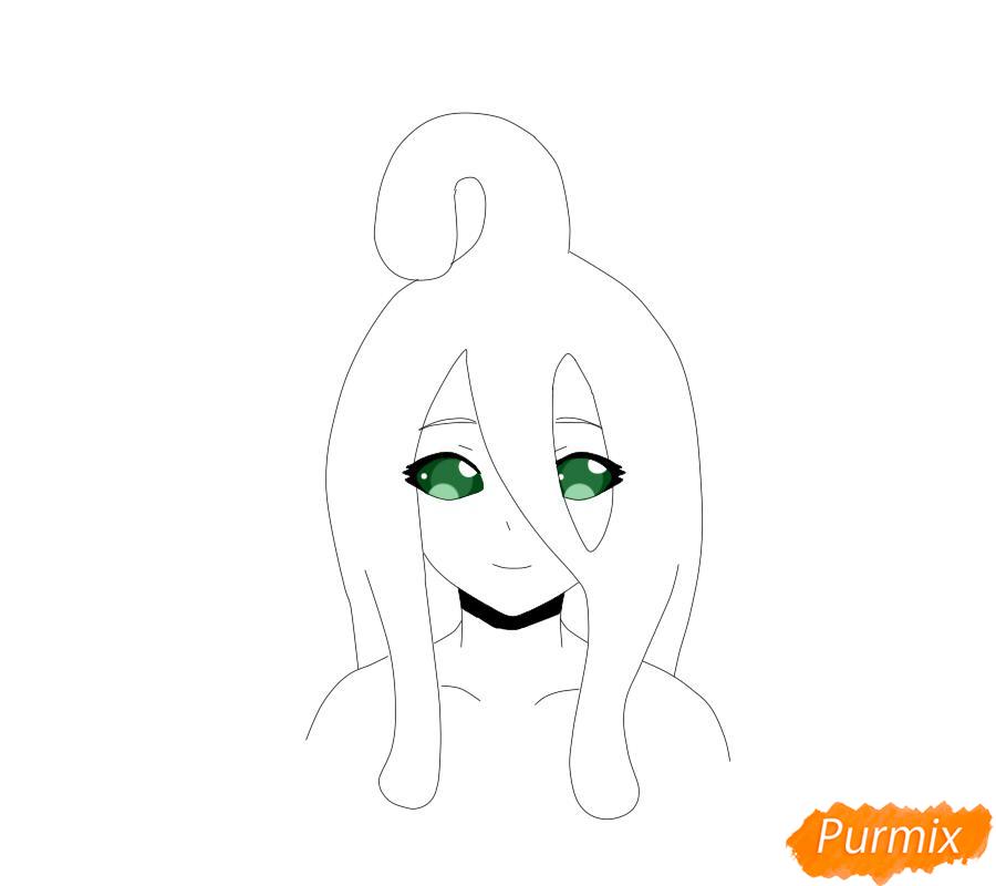 Рисуем Суу из аниме Повседневная жизнь с девушкой-монстром - шаг 6