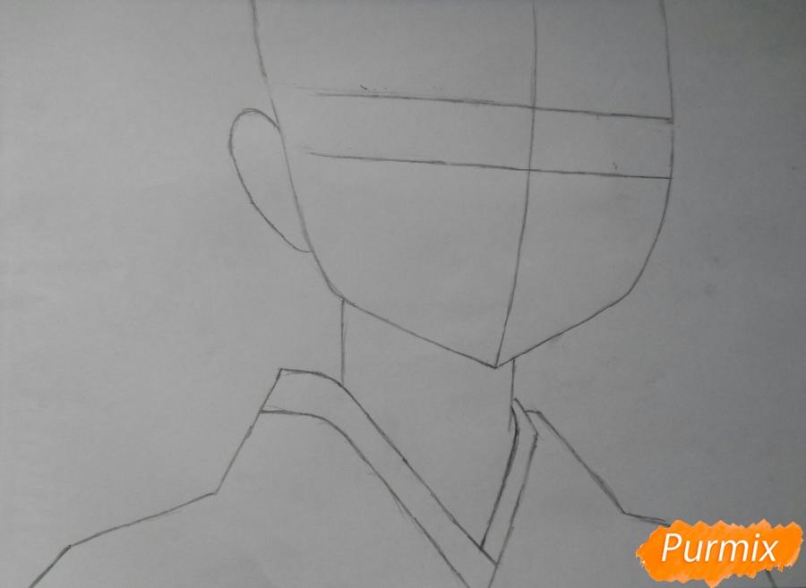 Рисуем Сузуно из аниме «Сатана на подработке» - шаг 1