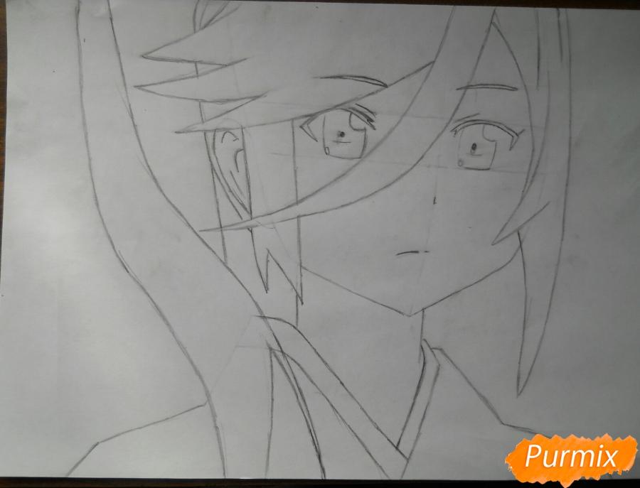 Рисуем Сузуно из аниме «Сатана на подработке» - шаг 3