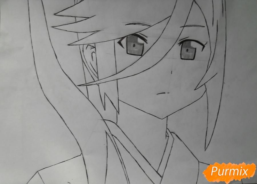 Рисуем Сузуно из аниме «Сатана на подработке» - шаг 5